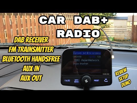 In Car DAB/DAB+ Radio Adapter Review - DAB / FM Transmitter / Mobile Handsfree / MP3 Player / AUX